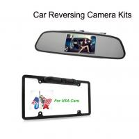 Wholesale 4.3inch LCD visible Night vision car reversing camera with U.S.A. license plate frame reverse camera from china suppliers
