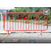 Wholesale Red Color Steel Crowd Control Barrier with Claw Feet | 1.1m X 2.3m | China Factory from china suppliers