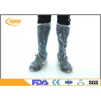 Wholesale Blue CPE PE Disposable Boot Covers For Industry / Waterproof Disposable Footwear from china suppliers
