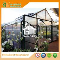 Wholesale 406x406x273cm 10MM Polycarbonate + Box Profile Black Color Hobby Greenhouse from china suppliers