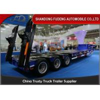 Wholesale 2 / 3 Axle Low Bed Semi Trailer 30 - 90 Tons Heavy Duty Machine Transportation from china suppliers