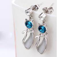 Wholesale Ref No.: 406007 Beauty cat Earring costume accessories wholesale art deco jewelry from china suppliers