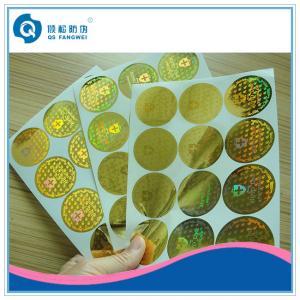 Wholesale Laser Anti-counterfeit Sticker , 3D Custom Hologram Stickers , Gold Hologram Sticker from china suppliers