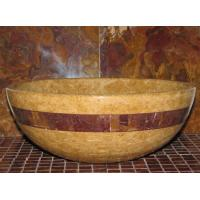 Wholesale Inca Gold Marble Kitchen Bathroom Sinks With Multi Red Onyx Stone Mosaic Inlay from china suppliers