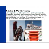 Quality RTV PRTV silicon coating silicon rubber coating for pollution flashover for disc insulators for sale