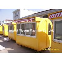 Wholesale Crepe Mobile Food Carts With Canopy , Steel Food Vending Carts from china suppliers