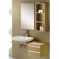 Wholesale Modern Design No Cracks and Strong Constrution Solid Wooden Bathroom Base Cabinet from china suppliers