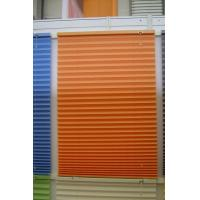 Wholesale 100% polyester fabric pleated shades for windows with steel headrail and steel bottomrail from china suppliers