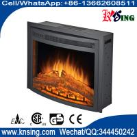 "Wholesale 26"" insert electric fireplace heater curved front log LED flame effect F2625 remote control built-in electric stove from china suppliers"