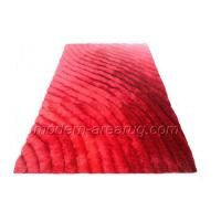 Wholesale Custom Size Red 3d Polyester Shaggy Rug, Modern Luster Shaggy Rugs For House Decoration from china suppliers