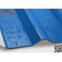 Wholesale 10.0mm Thickness PVC Hollow Plastic Roof Tiles With Blue Green Color from china suppliers