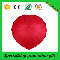 Wholesale 25 Inch 16 Ribs Manual Open Custom Printed Umbrellas Heart Shaped Umbrella from china suppliers