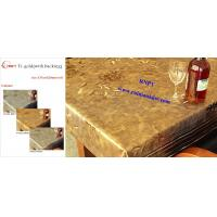 Wholesale Arabic PVC Table Cloth--RNPT Ti-Gold Table cloth with polyester backing --fancy table cloth for Africa countries from china suppliers