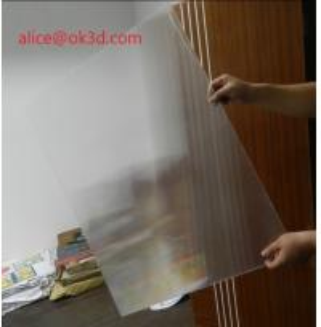 120x240cm 20 LPI 3 mm lenticular board for FLIP lenticular effect  on digital printer or UV flatbed printer