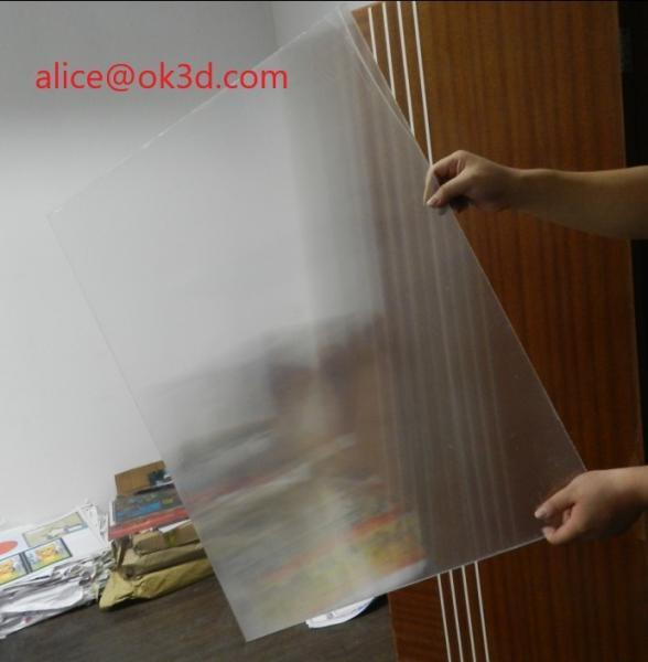 Quality 120x240cm 20 LPI 3 mm lenticular board for FLIP lenticular effect  on digital printer or UV flatbed printer for sale