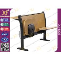 Wholesale Floor Mounted Iron Leg School Desk And Chair , Antique School Desk Chair from china suppliers