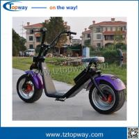 Wholesale city coco electric motorcycle 60v1000w hot sale harley scooter driving speed 40km/h from china suppliers