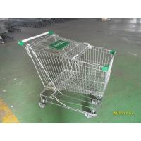 Wholesale Asian Style 180 Liter Steel Wire Shopping Trolley With Handle Logo from china suppliers