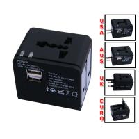 Wholesale Light Universal USB Travel Charger Portable , 5V 1000mA  / 2 USB Interface from china suppliers