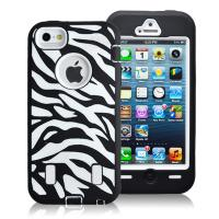 Wholesale Hard Plastic & Silicon Case Zebra Combo Case For Iphone 5g Hybride Case Cover from china suppliers