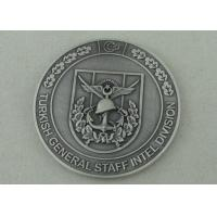 Wholesale Zinc Alloy Personalized Coins For Turkish General Staff Intel Division With Antique Silver Plating from china suppliers