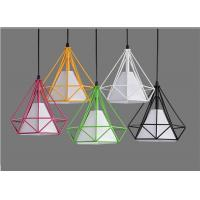 Wholesale Colorful Birdcage Pendant Scandinavian Modern Minimalist Art Pyramid Iron Led Pendant from china suppliers