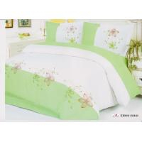 Wholesale Green 100 % Cotton Decorative Designer Bedroom Embroidered Bed Linen from china suppliers