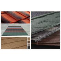 Wholesale Sepia Grid Metal tile Stone Chip Coated Steel Roof Tiles / roofing sheet from china suppliers