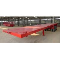 Wholesale Long Vehicles Flat Bed Semi Trailer 3 Axles 20ft 40ft 45 Tons With Twist Lock from china suppliers