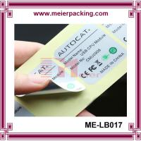 Wholesale high quqlity and heat resistant plastic pipe stickers/waterproof vinyl adhesive custom label for electronic ME-LB017 from china suppliers