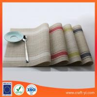 Wholesale waterproof table mat in Textilene fabric easy clean and reuse placemats supplier from china suppliers
