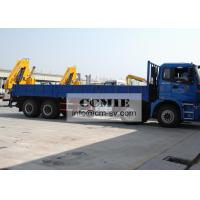 Wholesale Transporting Materials Lorry Mounted Crane , 11 Meters Lifting Height Boom Truck Crane from china suppliers