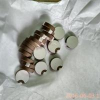 Buy cheap Curling Edge Piezoelectric Ceramic Discs Ceramic Round Plate Positive And Negative Poles from wholesalers
