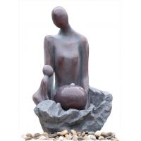 Wholesale Fiberglass Polyresin Kid And Mother Copper Color Fountain For Home & Garden from china suppliers