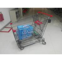 Wholesale Grey Powder Coating 210L Asian Type Wire Shopping Trolley Wiht 4 Swivel 5 Inch Casters from china suppliers