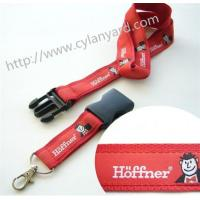 Wholesale Double layered jacquard ribbon overlay neck lanyard with quick release detachable buckle from china suppliers