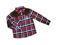 Wholesale Custom Red / Blue Casual Cotton Kids Plaid t shirts,  fromal shirts For 3 - 14 year from china suppliers