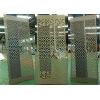 Wholesale Aluminum Stretched Perforated Exterior Decorative Panels For Supermarket / Subway from china suppliers