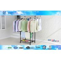 Wholesale Steel Folding Metal Clothes Rack , Wheeled Telescopic Clothes Rack from china suppliers