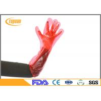 Wholesale Red 90cm PE Plastic Disposable Veterinary Gloves Long Arm For Ainimal Handing from china suppliers