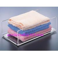 Wholesale Acrylic towel holder, plexiglass bath towel holder stand for hotel supplies from china suppliers