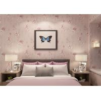 Wholesale Light Purple Rustic Floral Home Interior Wallpaper Vinyl Coated For Room Decoration from china suppliers