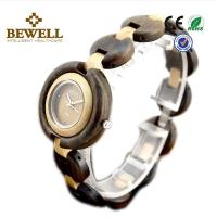 Wholesale Custom Quartz Wood Watch / Bewell Wooden Mens Watch With Black Sandalwood Case from china suppliers