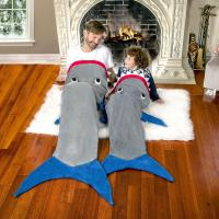 China Mermaid Tail shark Blanket for Kids Teens Adults,Plush Soft Flannel Fleece All Seasons Sleeping Blankets on sale