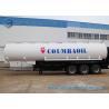 Buy cheap Trapezoid Mild Steel Q345 Tri-Axle Fuel Tanker Semi Trailer 50000 Liters from wholesalers