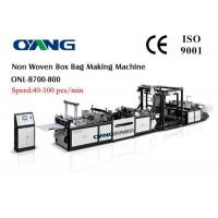 Wholesale Eco Box Bag / D - cut Bag PP Non Woven Bag Making Machine Speed 40-100pcs / min from china suppliers