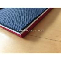 Wholesale Colorful Embossed Rubber Soling Sheet With SCR Neoprene Fabric , Elliptic Pattern from china suppliers