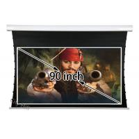 "Wholesale 90"" 16 9 Tab Tensioned Motorized Projection Screen With Built In Remote Control from china suppliers"