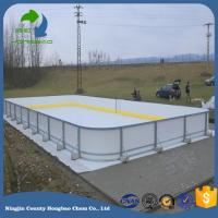 Dovetail Connection Hdpe Material Synthetic Hockey Shooting Pad Smooth Surface Ice Rink Panel