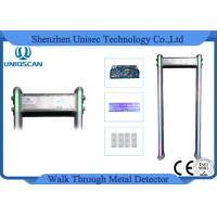 Wholesale 6 Digital Count Multi Zone Metal Detector Waterproof PVC Walk Through Gates from china suppliers